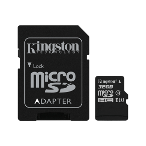 32GB microSD minneskort från Kingston