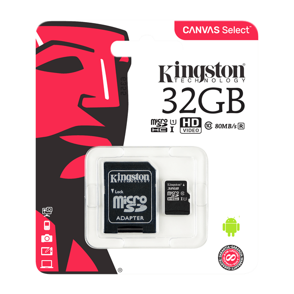 Kingston 32GB Minneskort MicroSD